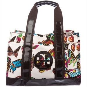 Tory Burch Butterfly Canvas Tote
